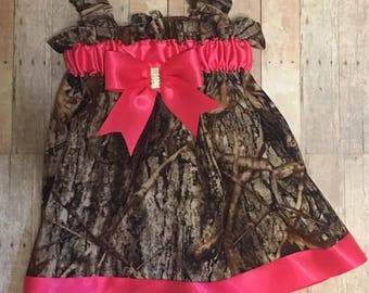 Custom Camo Dress with Bow