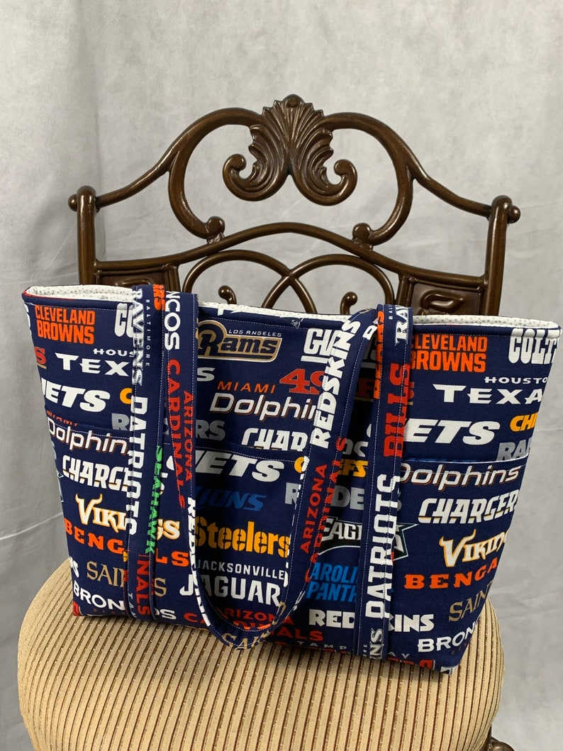 Red Blue Yellow Gray Gold and WhiteTeam Tote Bag Green Purple Black Orange