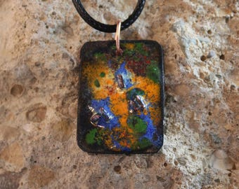 Enameled Copper Pendant (041917-003)