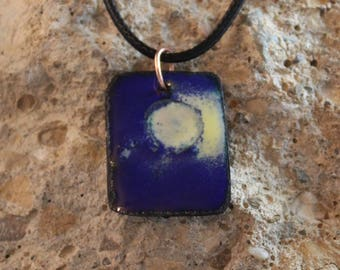 Enameled Copper Pendant (041917-005)