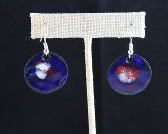 Enameled Copper Earrings (041917-025)