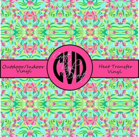 Beautiful Patterned Vinyl // Patterned / Printed Vinyl // Outdoor and Heat Transfer Vinyl // Pattern 107