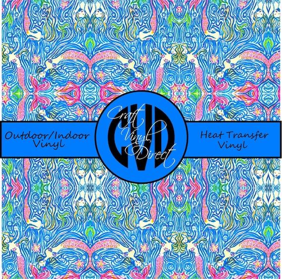 Beautiful, Vibrant Patterned Craft Vinyl and Heat Transfer Vinyl in Pattern 350