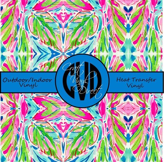 Beautiful, Vibrant Patterned Craft Vinyl and Heat Transfer Vinyl in Pattern 348