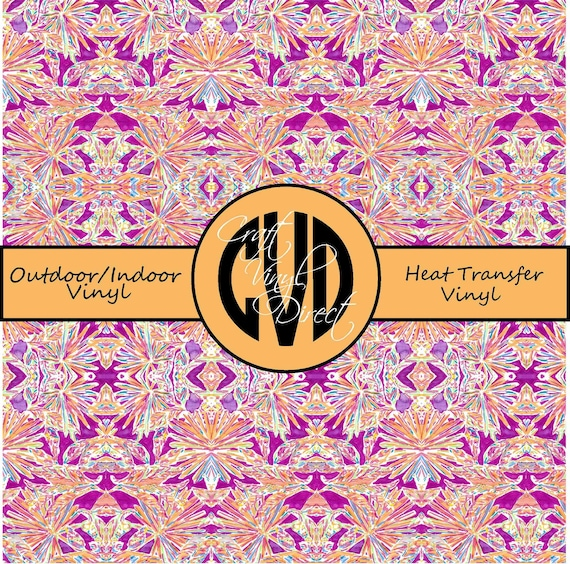 Beautiful Patterned Vinyl // Patterned / Printed Vinyl // Outdoor and Heat Transfer Vinyl // Pattern 718