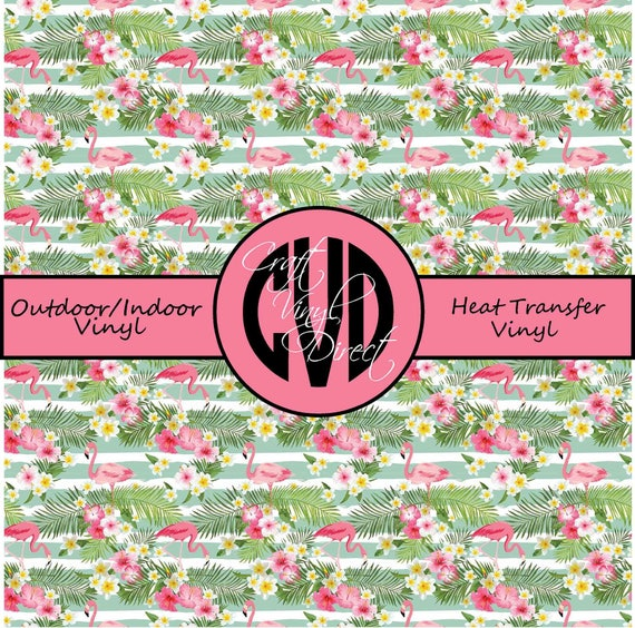 Beautiful Floral Patterned Vinyl // Patterned / Printed Vinyl // Outdoor and Heat Transfer Vinyl // Pattern 768