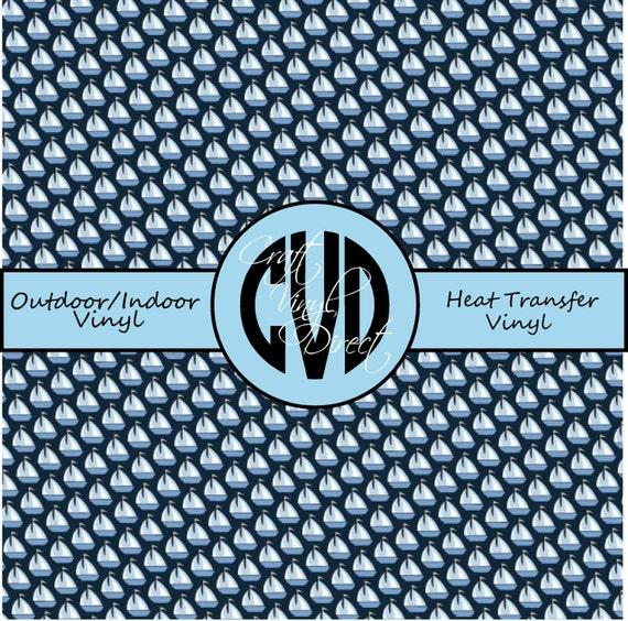 Nautical Vinyl // Sailboat Vinyl // Patterned Vinyl // Outdoor and Heat Transfer Vinyl // Pattern 517