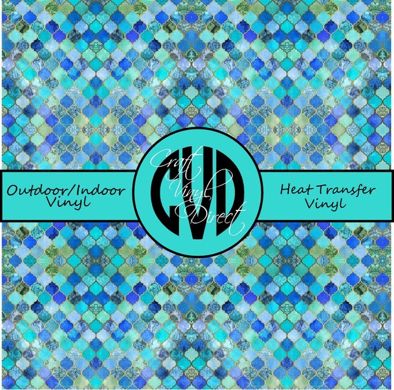 Moraccan Patterned Vinyl // Patterned / Printed Vinyl // Outdoor and Heat Transfer Vinyl // Pattern 712