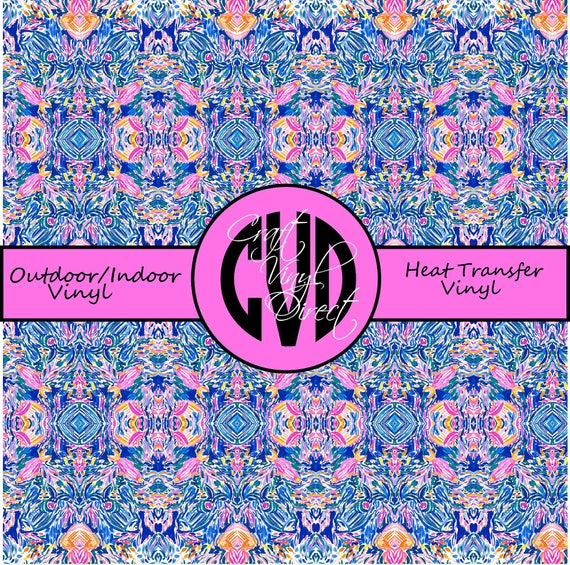 Beautiful Patterned Vinyl // Patterned / Printed Vinyl // Outdoor and Heat Transfer Vinyl // Pattern 915