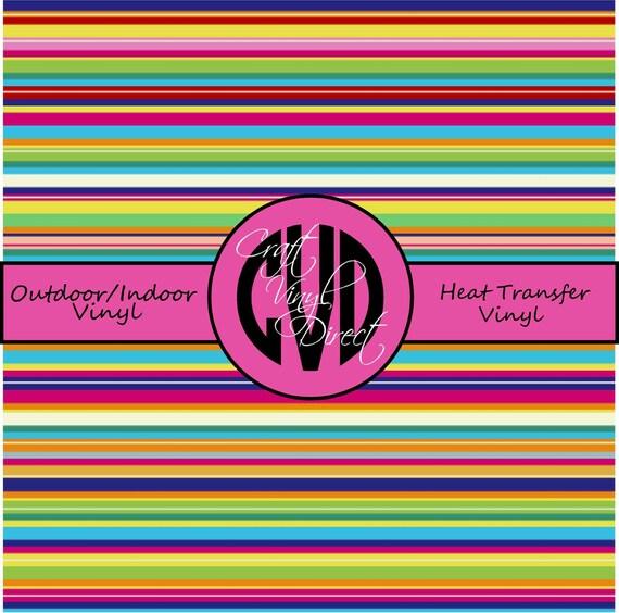 Stripe / Serape Patterned Vinyl // Patterned Vinyl // Outdoor and Heat Transfer Vinyl // Pattern 534