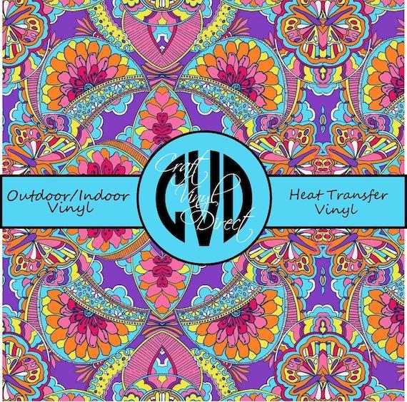 Beautiful Patterned Vinyl // Patterned / Printed Vinyl // Outdoor and Heat Transfer Vinyl // Pattern 22