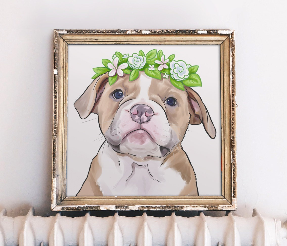 fb8039593165 Dog Memorial Portrait Dog Loss Gift Loss of Dog Photo Print
