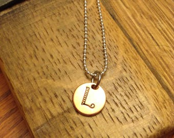 Initial Necklace - Hand Stamped Necklace - Hand Stamped Jewelry - Gift for Her
