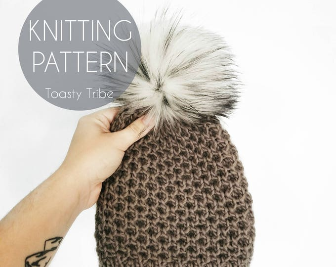 Featured listing image: Bit Of Honey Beanie Knitting Pattern PDF