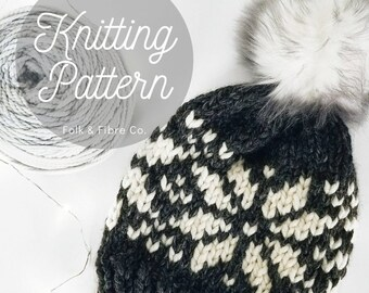 quality design 6f76b 5b22f Knitting Pattern PDF  Nordic Mountain Cap Pattern   Fair Isle Pattern  Cozy  Winter Hat