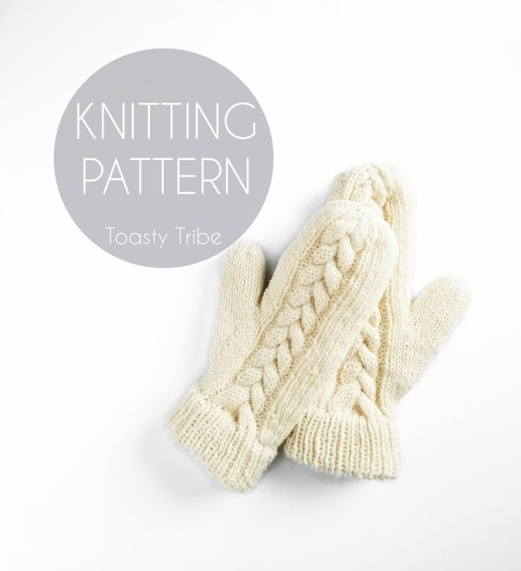 Knitting Pattern Pdf Meander Mitts Pattern Mitten Pattern Etsy