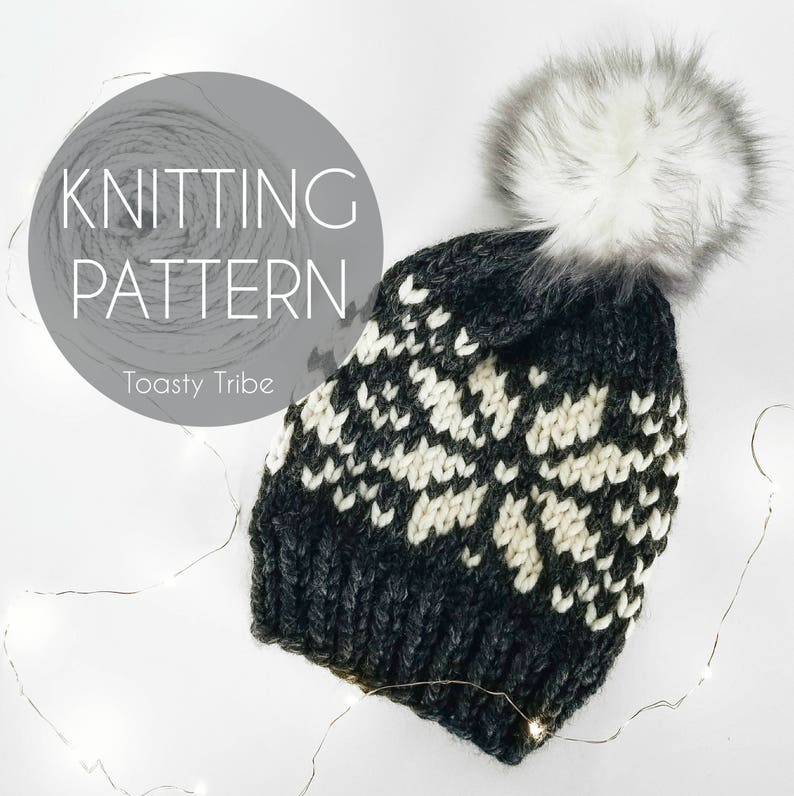 Knitting Pattern PDF  Nordic Mountain Cap Pattern   Fair Isle  ee6e5d6c47ef