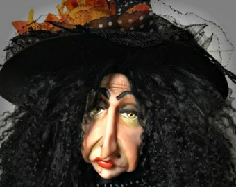 Halloween Witch, Witch Doll, Halloween Decoration, Art Doll, Polymer Clay Witch, Witch Figure