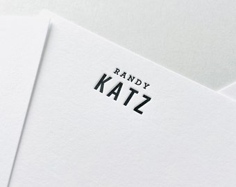Personalized Stationery // Letterpress Stationery // Notecards Personalized // Notecards for Men // Stationery Box Set // Stationery Gift