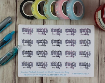 Finish the Fucking Laundry Stickers, Foiled Laundry Stickers, Erin Condren Life Planner Planner Stickers