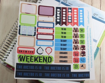 Time Traveler Weekly Kit Stickers for ECLP Vertical Weekly Layout