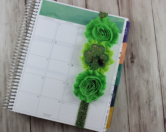St. Patrick's Day Glitter Planner Band