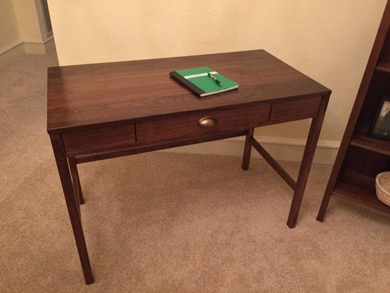 La main bureau bois avec tiroir etsy