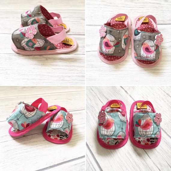 b4675d76c236d Baby fabric sandals, baby girl sandals, Baby booties, Baby girls, baby  girls shoes, Girls shoes, fabric shoes, birds sandals, flowers sandal