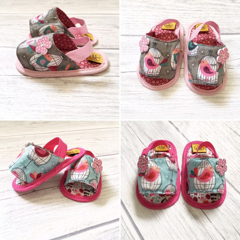 Baby fabric sandals baby girl sandals Baby booties Baby