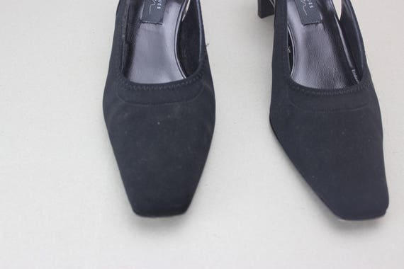 90s black minimalist neoprene structural heel sli… - image 3