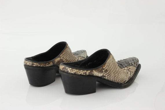 vtg 90s genuine snakeskin  pointed toe avantgarde… - image 7