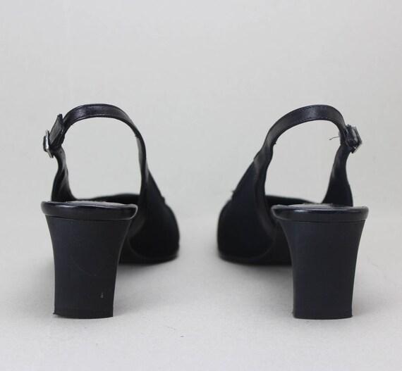 90s black minimalist neoprene structural heel sli… - image 6