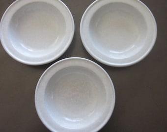 Set of 3 Bennington Potters VT Agate White pattern 1961 dg