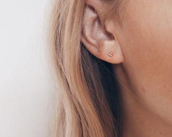 Tiny dainty earrings - Tiny gold studs - Dainty silver studs - Stud earrings - Tagur earrings - Cartilage studs - Minimalist earrings