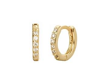 5220743352d5b Small hoops earrings-Gold ear cuff - ear cuff earrings - gold earrings - cz  earrings - tiny hoop earrings