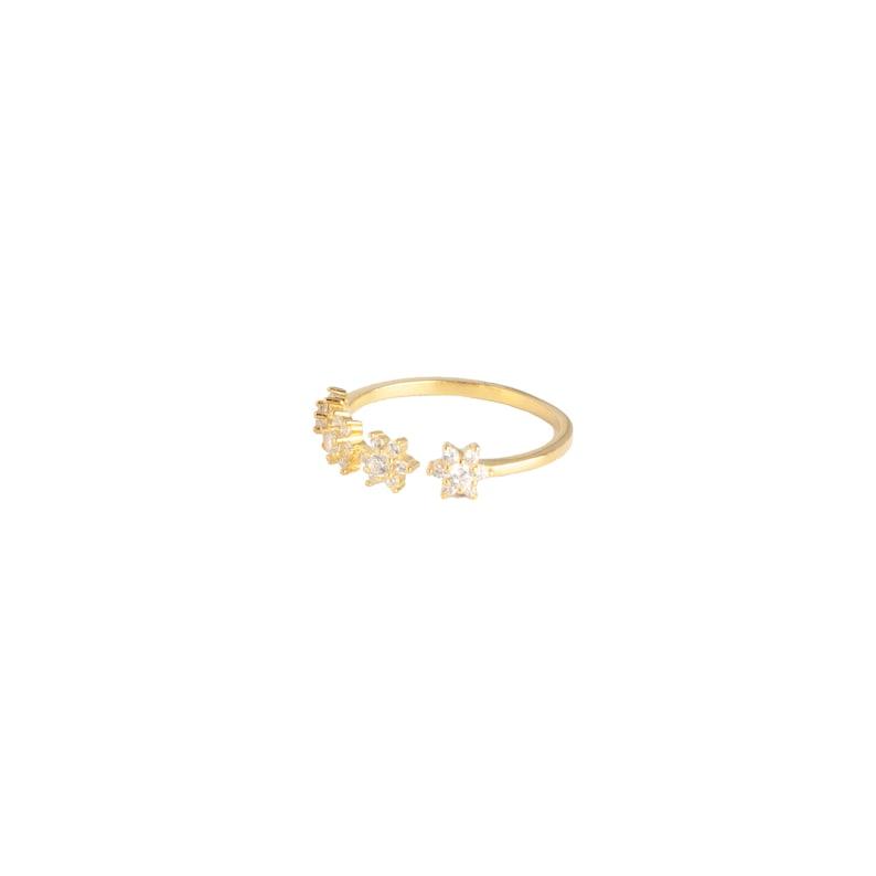 Open cz ring Cz ring Star cz gold ring Gold ring Dainty ring Open ring Star ring Stackable ring Silver ring Minimal ring