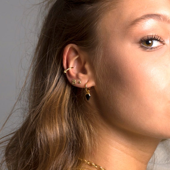 4f9100e3a Initial stud earrings Minimalist earring Letter earrings | Etsy