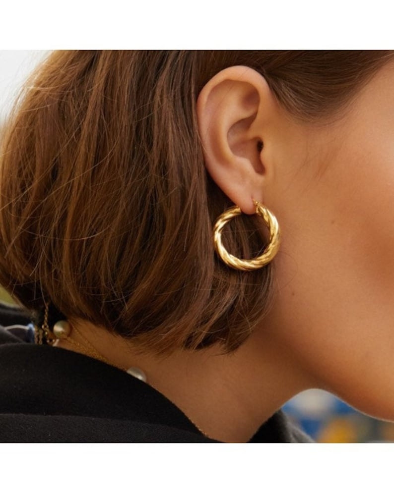 Gold Hoops Fine Jewelry 18k Gold Plated Sterling Silver