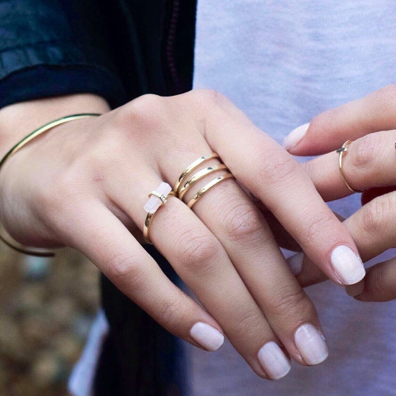 Bypass Tumb Ring   Wrap Ring   Triple Ring   Double Ring   Statement Ring   Minimal Ring   Minimalist Ring   Gold Ring   Coil Ring by Etsy