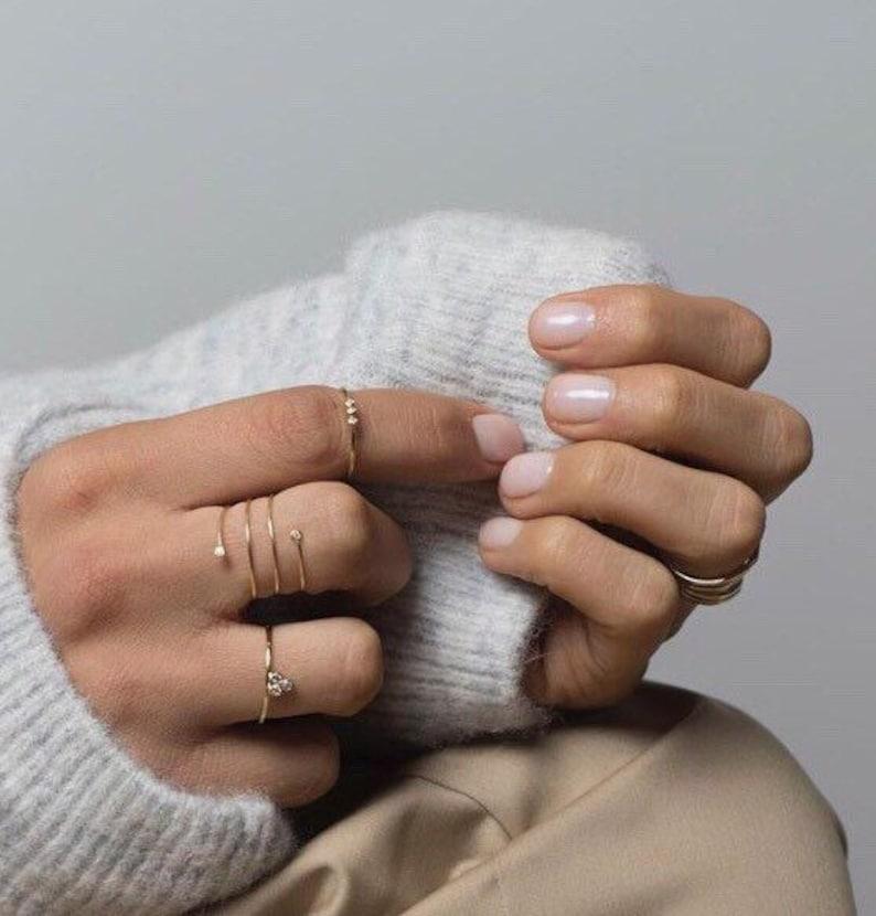 Spiral thumb ring Swirl thumb ring Plain thumb ring Adjustable wire ring Gold Thumb Ring Bypass cz ring Twist thumb ring