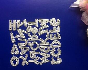 Craft Metal 2cm Alphabet Die Cutters, Handmade Card Making Dies, Scrapbook Upper Alphabet Cutting Dies DC1076
