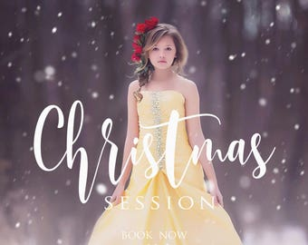 Christmas session, Marketing Board, Photoshop Template for Photographers, Winter Mini Session, Holiday minis