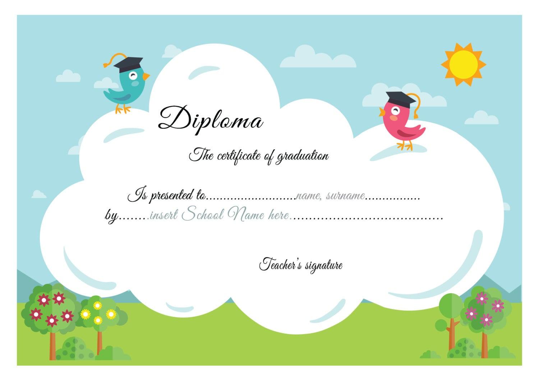 Grundschule-Diplom Diplom-Kindergarten Abschlusszeugnis | Etsy
