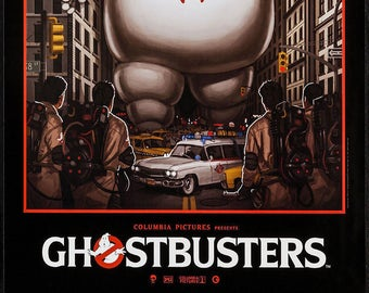 Ghostbusters Poster Etsy