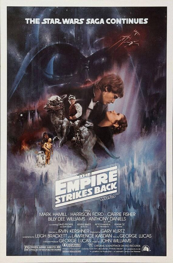 V The Empire Strikes Back New Art Print 1980 Promo Poster for Star Wars