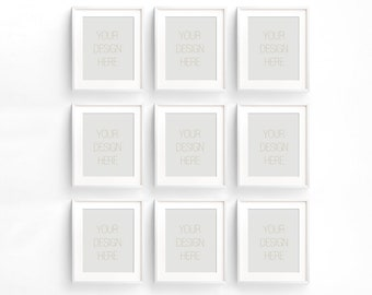 Download Free BUY3 PAY2, Set of nine Vertical white Frame Mockup, Styled Stock Photography, Product Background Mockup ,minimalist white frame mockup PSD Template
