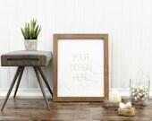 Styled Stock Photography, Frame Mockup, wood Frame mockup, Styled Photography Mockup, stock photo, BUY3 PAY2