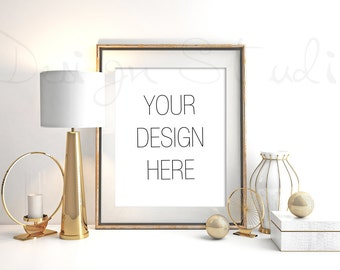 Download Free Styled Stock Photography, Frame Mockup , Gold Digital Frame mockup, Styled Photography Mockup, stock photo PSD Template