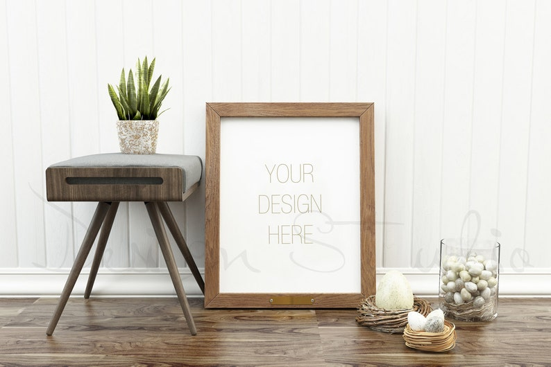 Styled Stock Photography Frame Mockup wood Frame mockup image 0