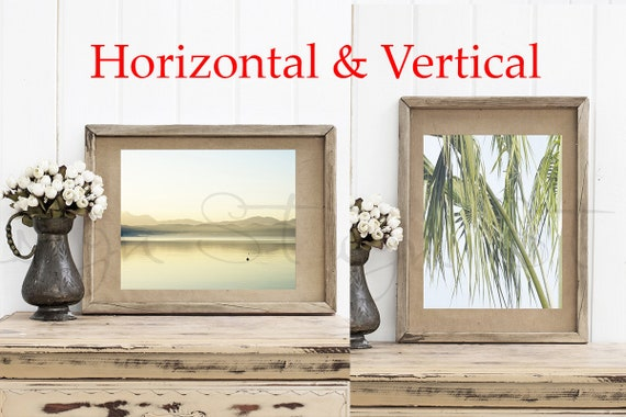Wooden Frame Mockup Vertical And Horizontal Wooden Frame Etsy